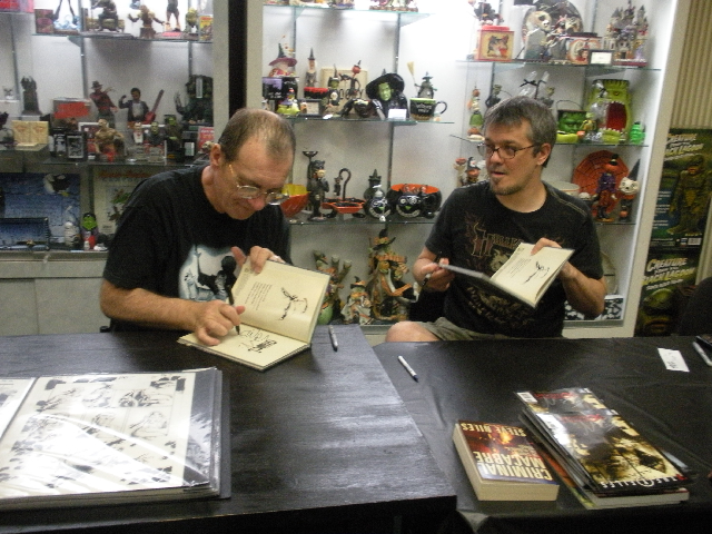 12 Niles Wrightson signing Bill_s books